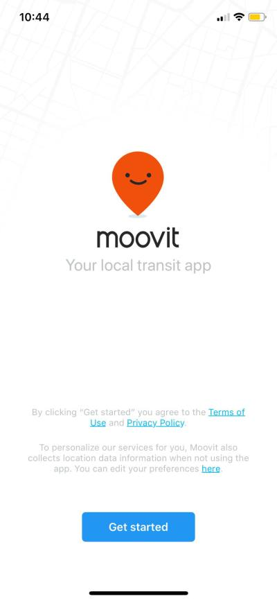 Get Started on iOS by Moovit from UIGarage