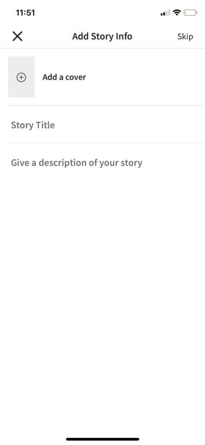 Add Story on iOS by Wattpad from UIGarage