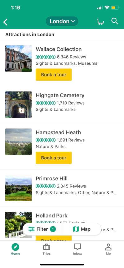Attractions on iOS by Tripadvisor from UIGarage