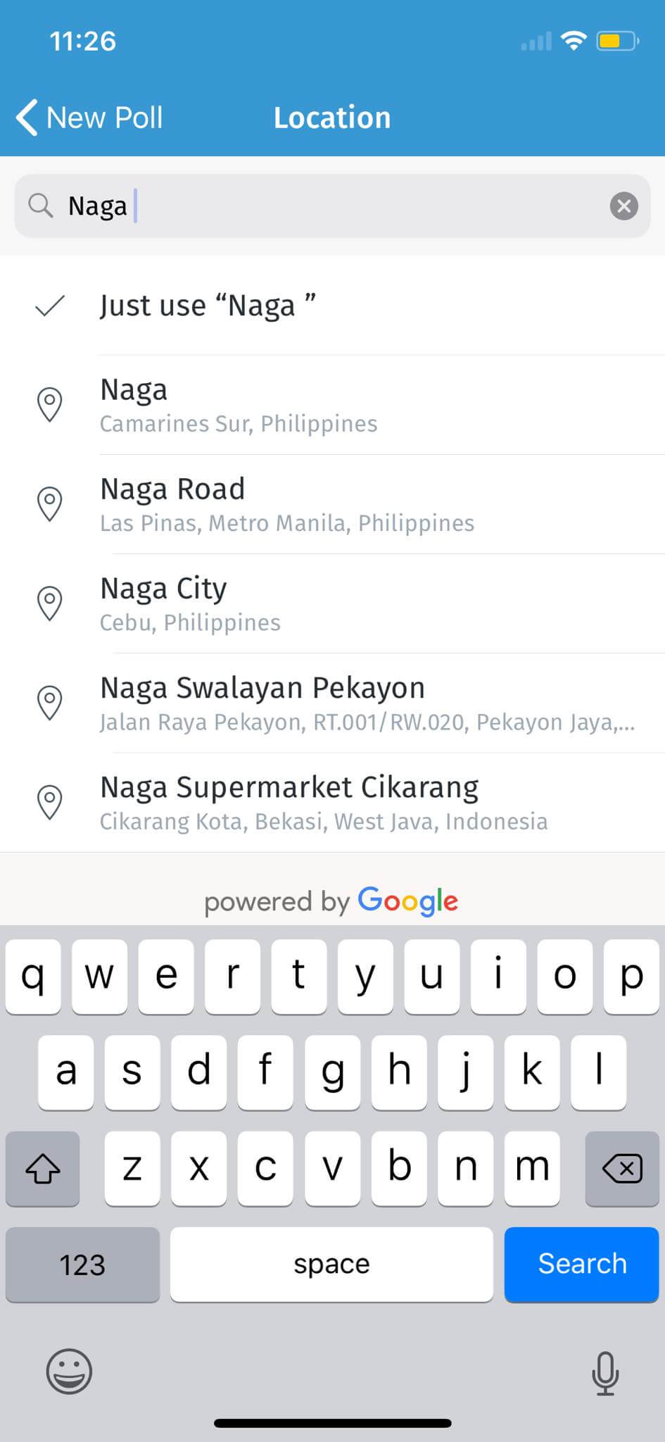 Search on iOS by Doodle from UIGarage