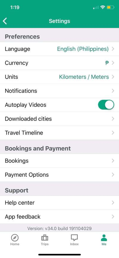 Settings on iOS by Tripadvisor from UIGarage