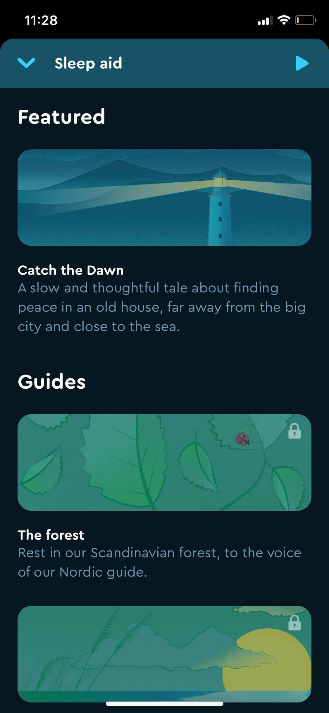 Sleep Aid on iOS by Sleep Cycle from UIGarage