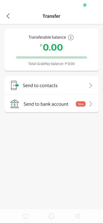 Transfer on Android by Grab from UIGarage