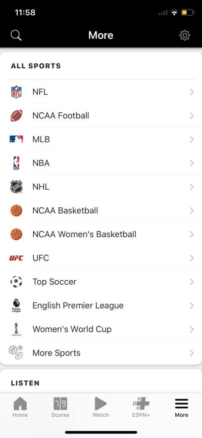 All Sports on iOS by ESPN from UIGarage