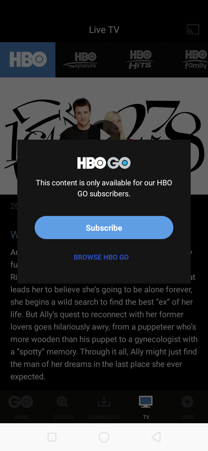 Ask Permission on Android by HBO GO from UIGarage