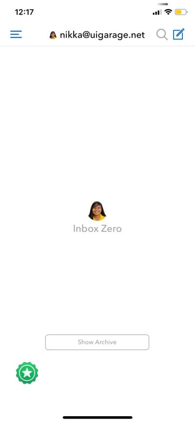 Empty States on iOS by Airmail from UIGarage
