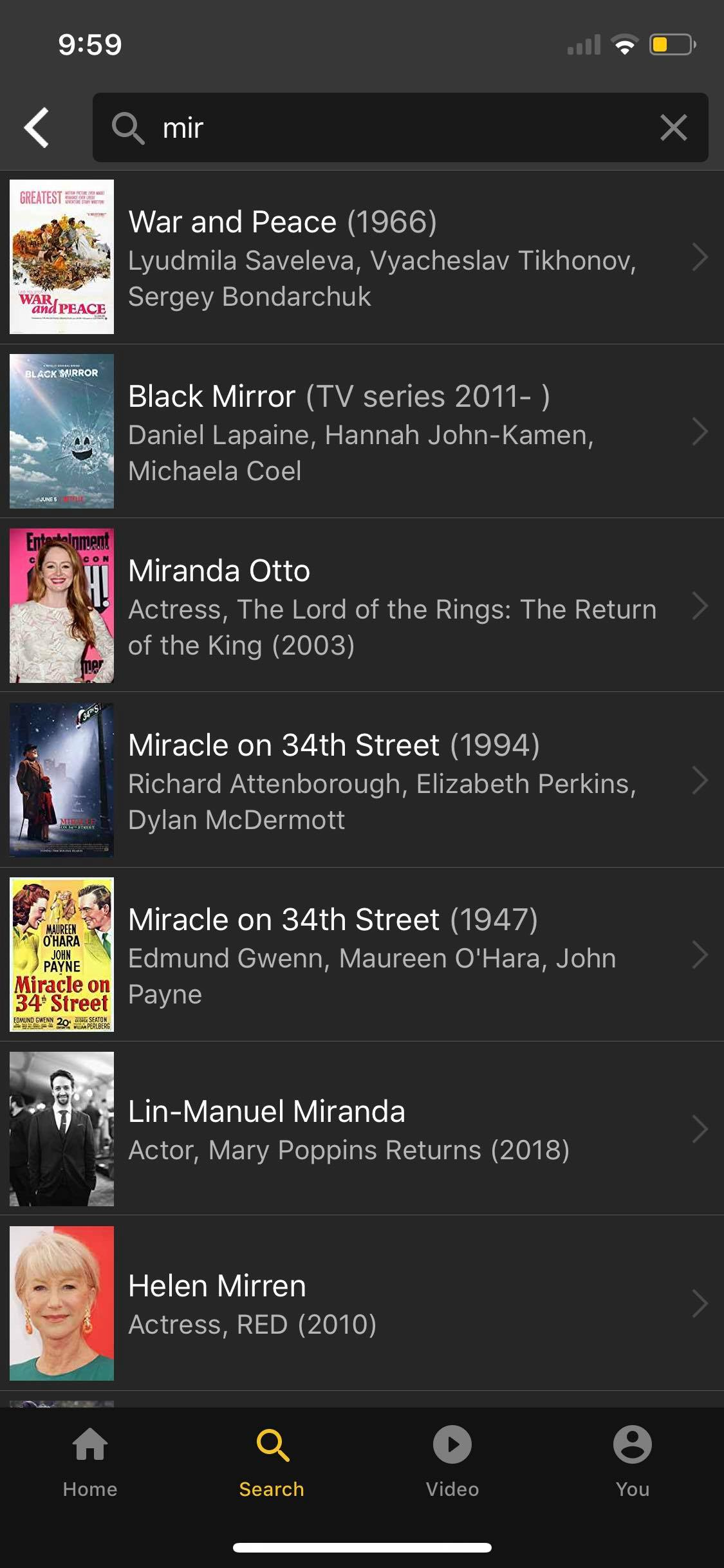 Search on iOS by IMDb from UIGarage