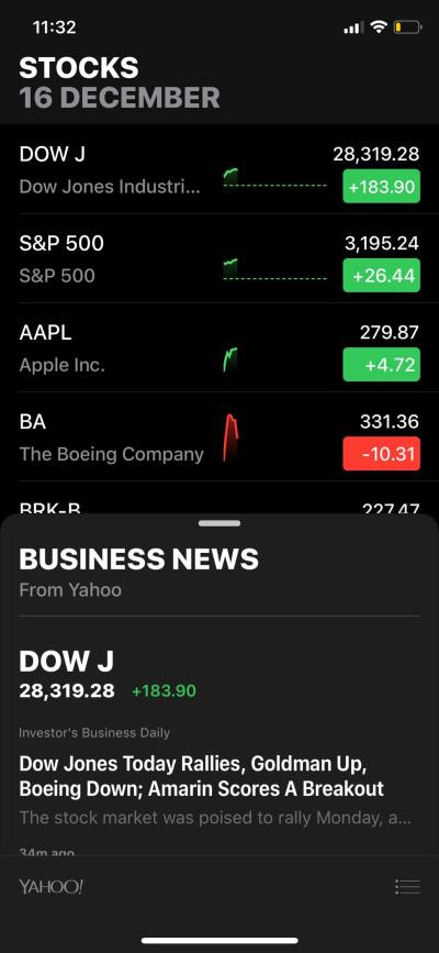 Stocks on iOS by Apple Stock from UIGarage