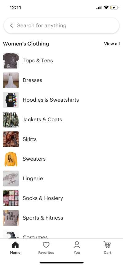 Woman's Clothing on iOS by Etsy from UIGarage