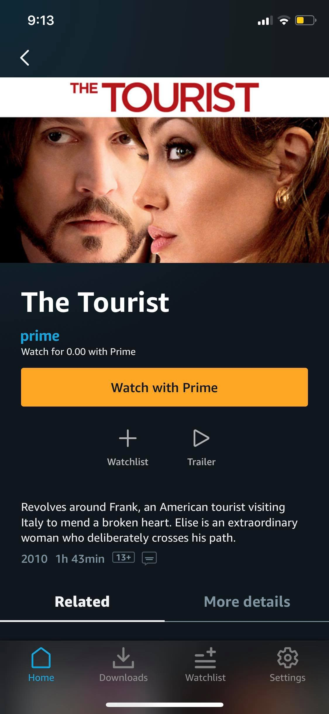 Content Screen on iOS by Prime Video from UIGarage