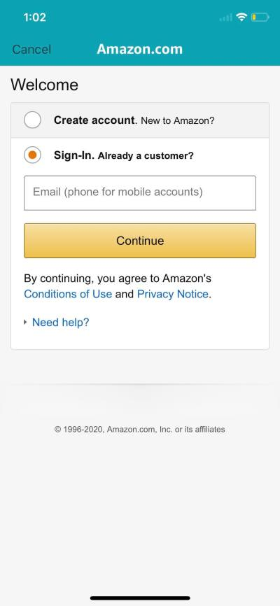 Login on iOS by Amazon from UIGarage