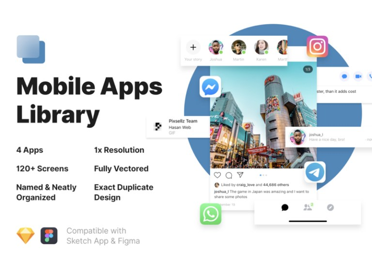Mobile Apps Library for Sketch & Figma from UIGarage