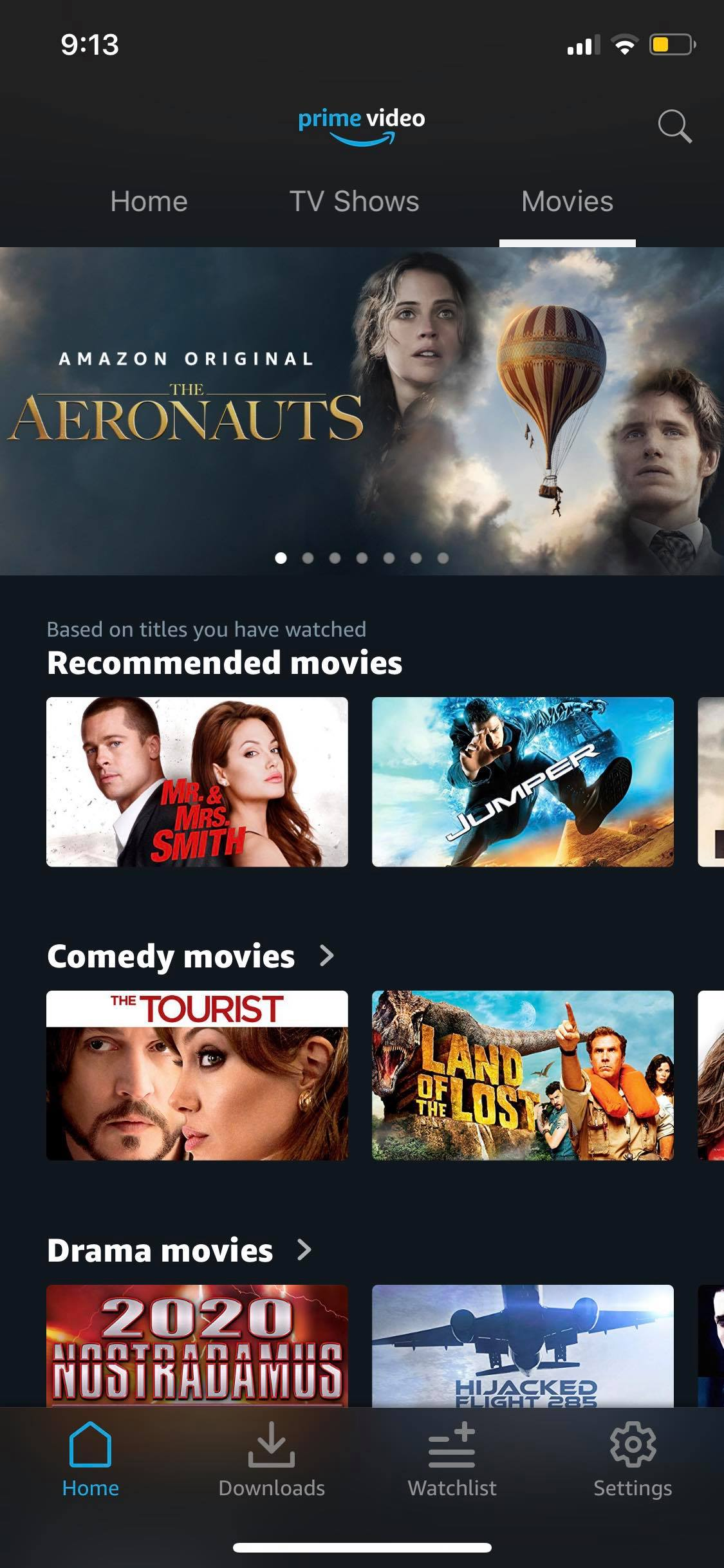 Movies on iOS by Prime Video from UIGarage