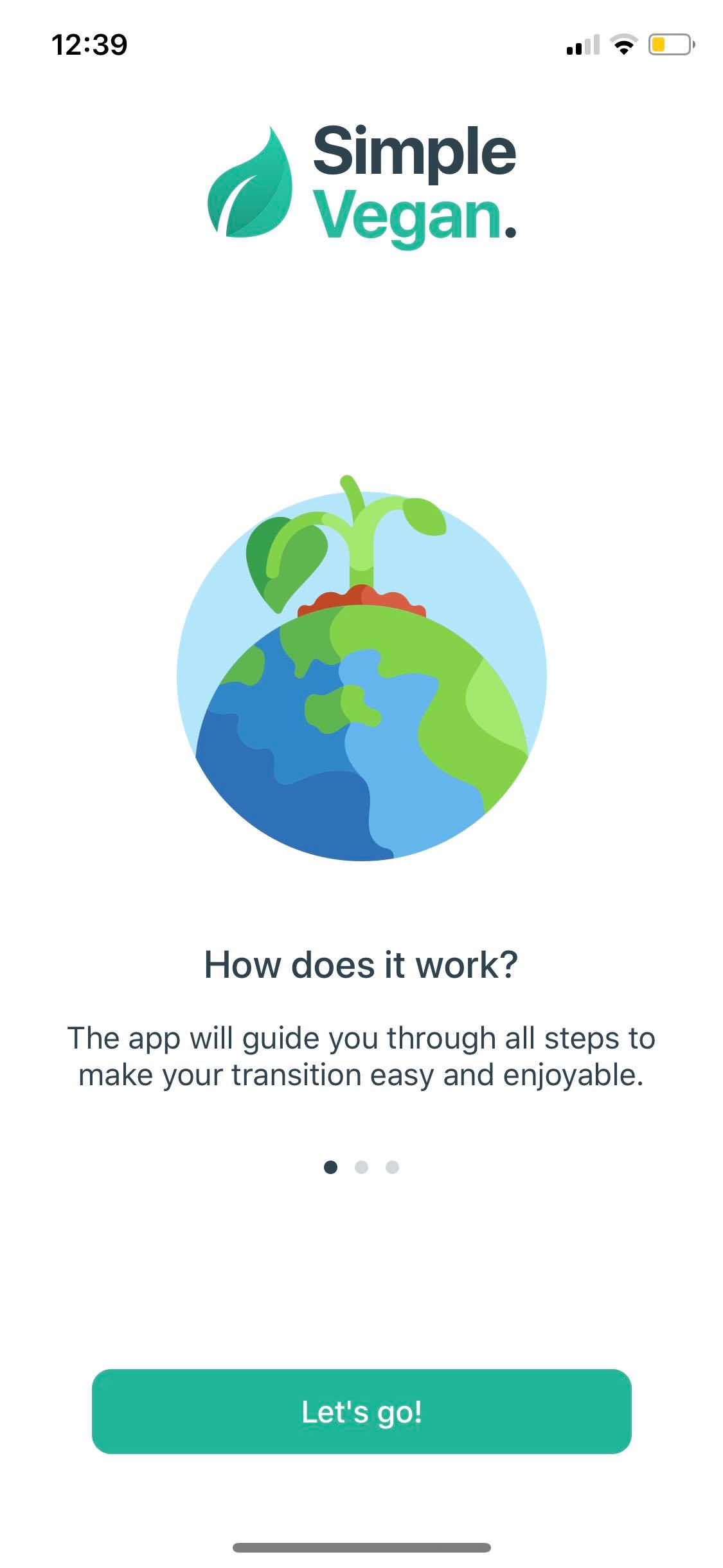 Onboarding on iOS by Simple Vegan from UIGarage