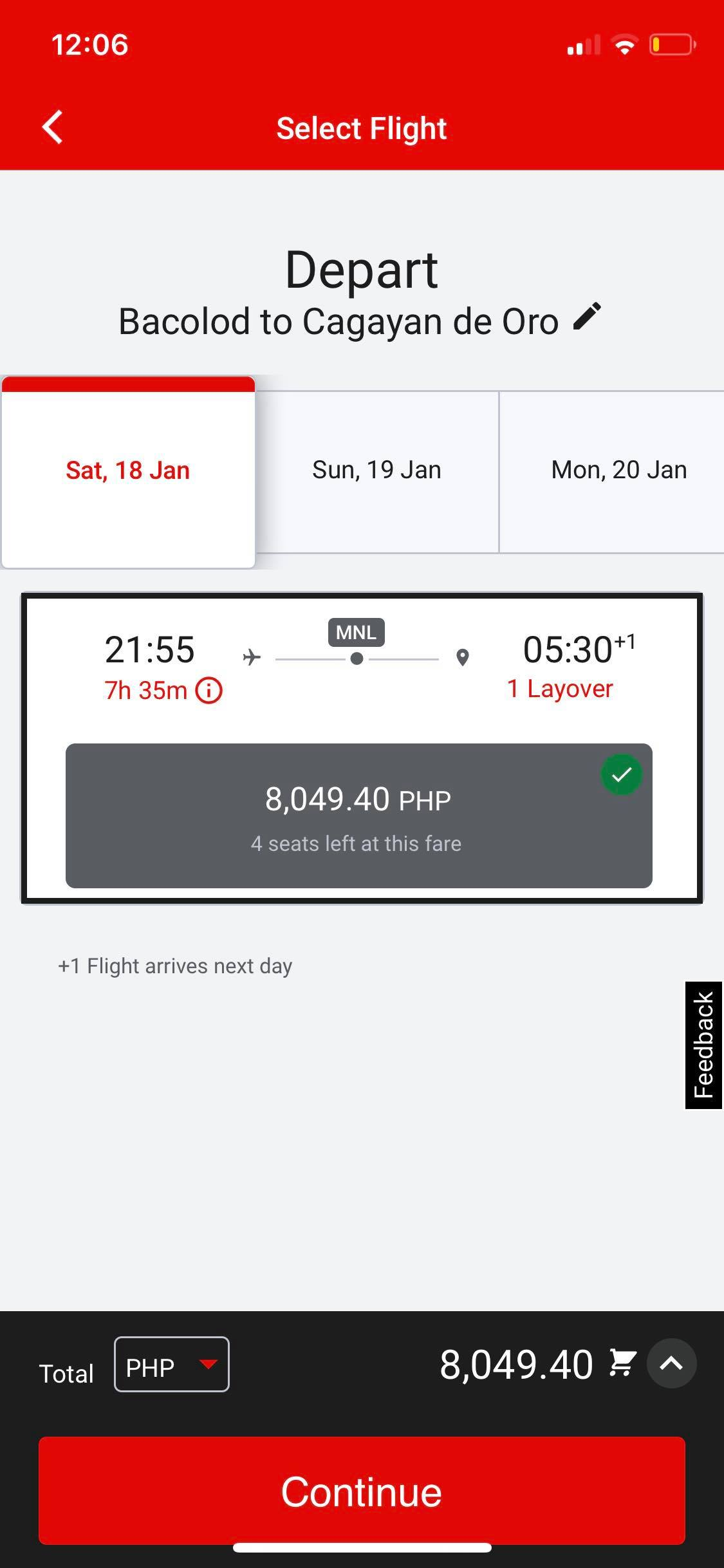 Select Flight on iOS by AirAsia from UIGarage