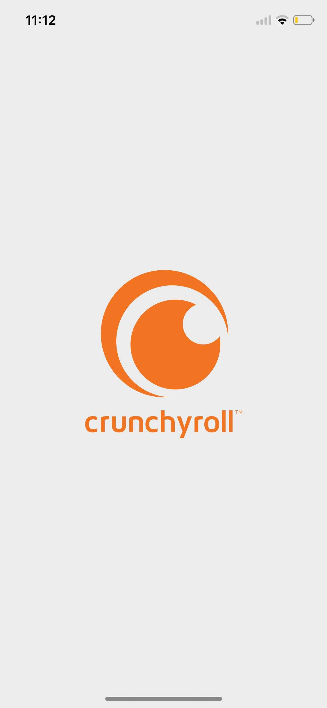 Launch Screen on iOS by Crunchy Roll from UIGarage