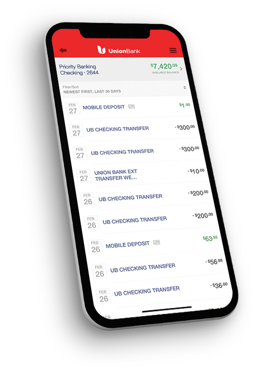 Open A Personal Checking Account Online Compare Union Bank Accounts
