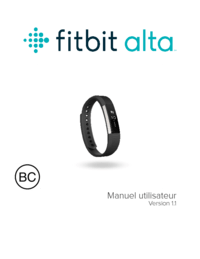 Fitbit Alta Mode d'emploi