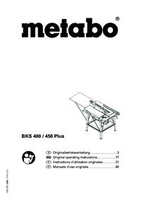 Metabo BKS 400 Plus BKS 450 Plus BKS 450 Plus 5,50 DNB