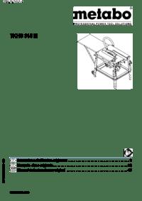 Metabo TKHS 315M/3,10 WNB TKHS 315M/4,20 DNB Manual
