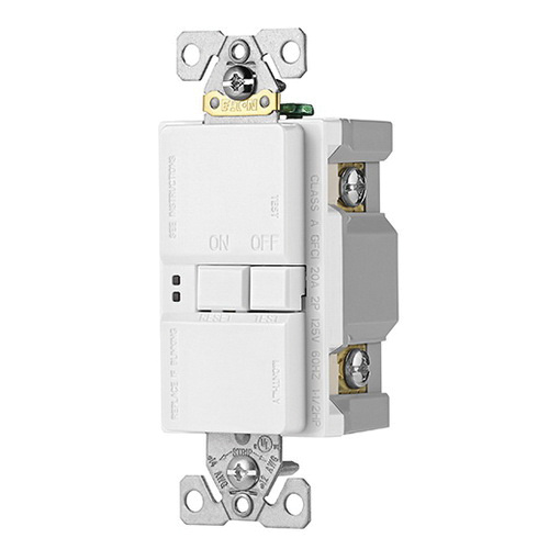 Cooper Wiring Device Sgfd20w Specification Grade Self Test Blank Face Gfci Receptacle 20 Amp 125