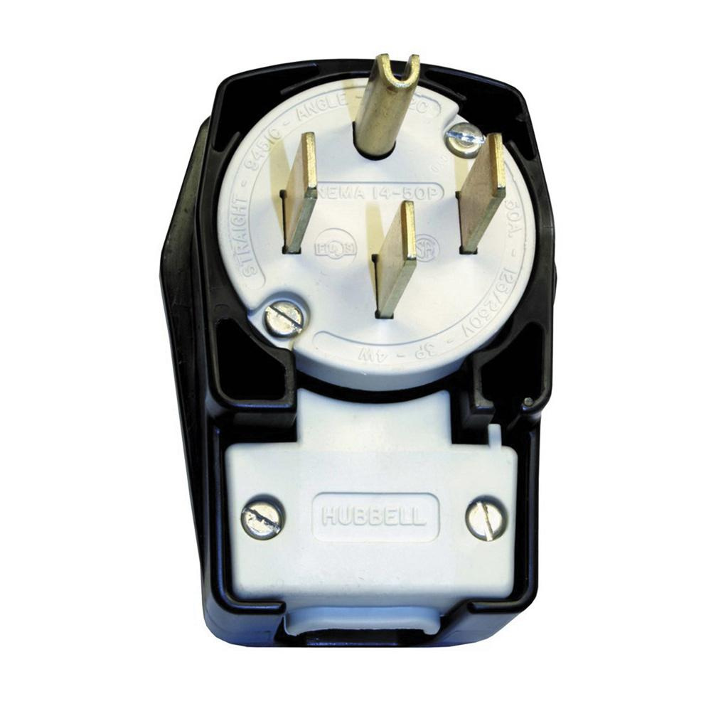 medium resolution of hubbell wiring hbl9452c 4 wire 3 pole 4 position angled blade plug