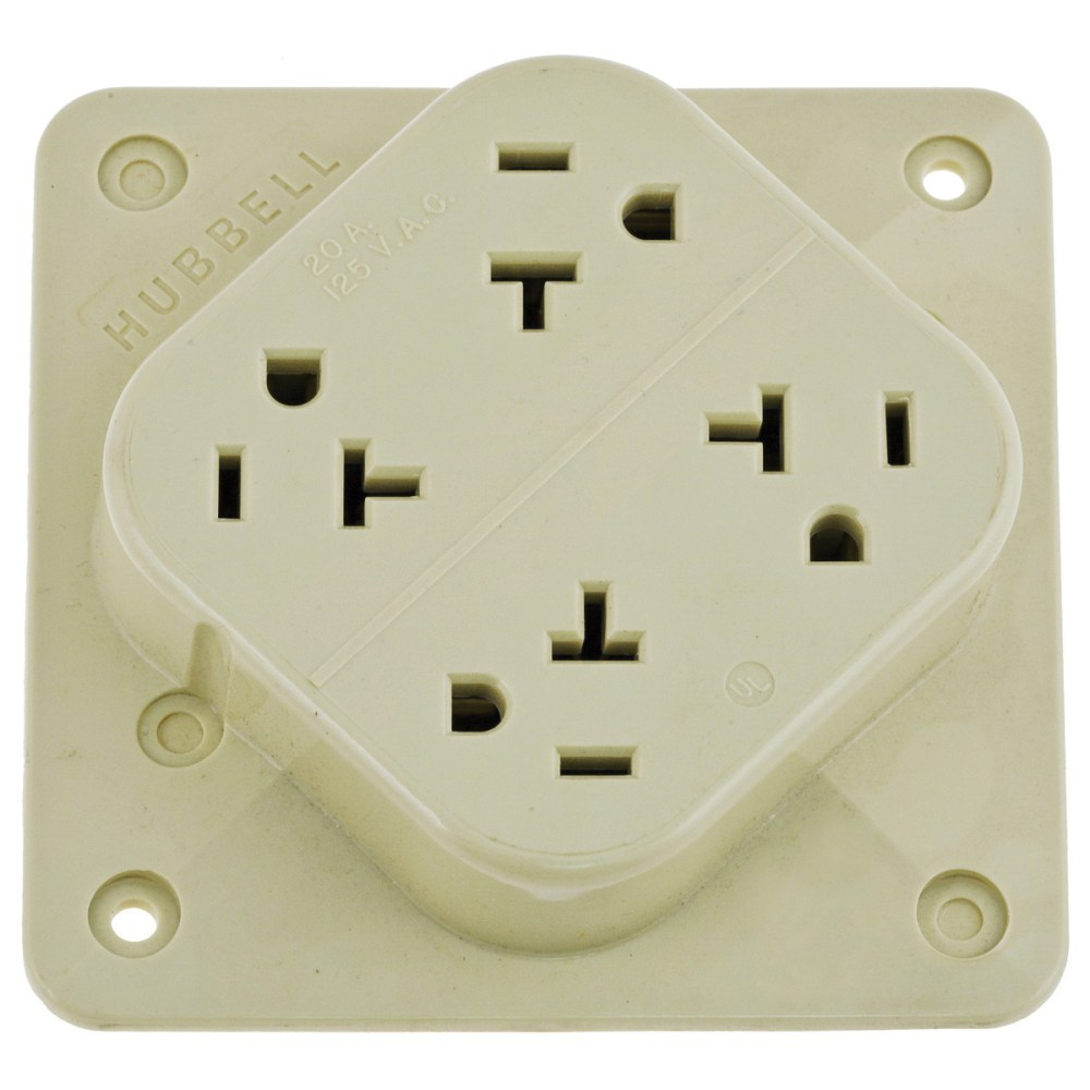 medium resolution of hubbell wiring hbl420i commercial industrial specification grade straight blade 4 outlet receptacle