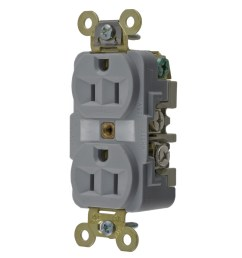 hubbell wiring hbl5262gy industrial specification grade extra heavy duty straight blade receptacle 2 pole 3 wire 125 volt 15 amp nema 5 15r gray hbl  [ 1200 x 1200 Pixel ]