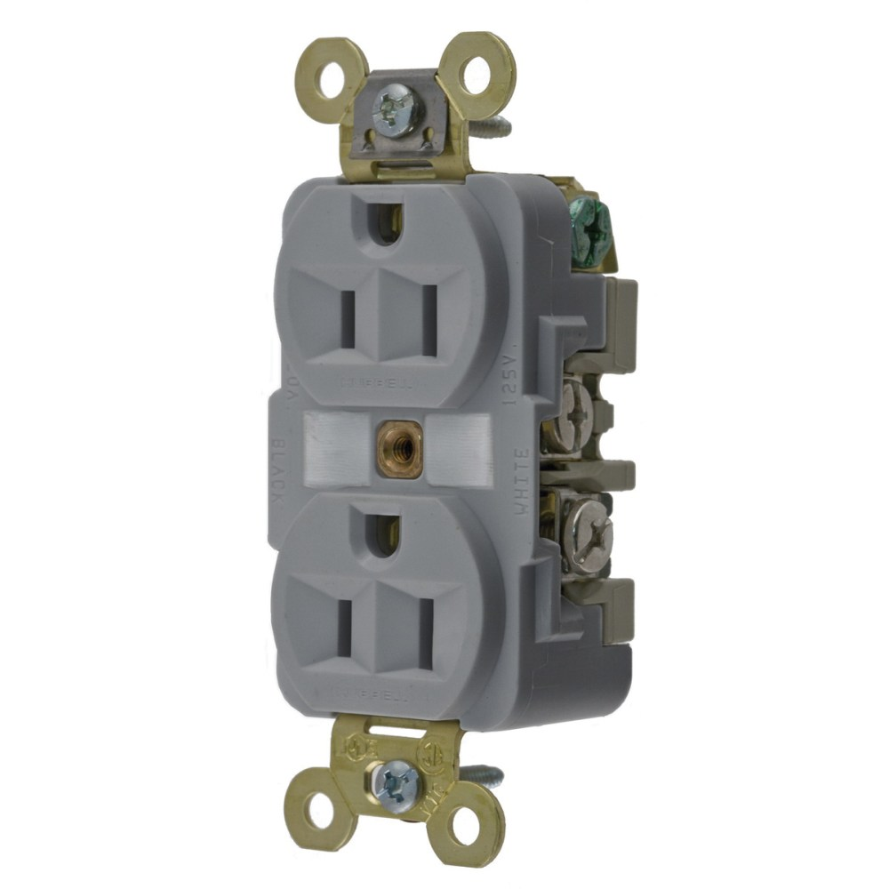 medium resolution of hubbell wiring hbl5262gy industrial specification grade extra heavy duty straight blade receptacle 2 pole 3 wire 125 volt 15 amp nema 5 15r gray hbl
