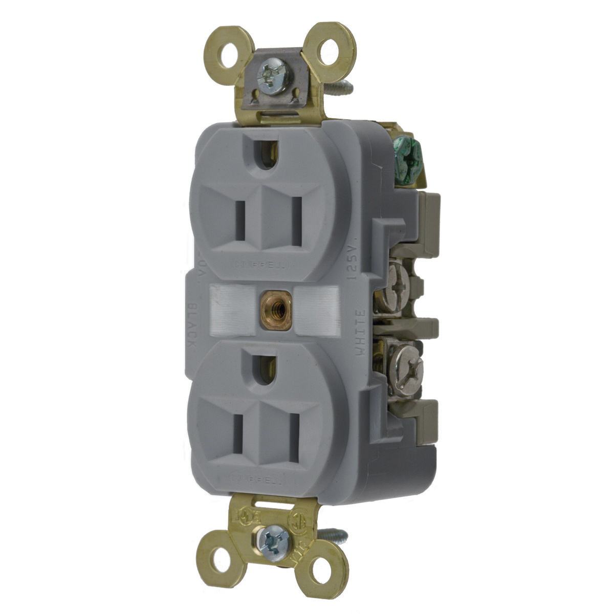 hight resolution of hubbell wiring hbl5262gy industrial specification grade extra heavy duty straight blade receptacle 2 pole 3 wire 125 volt 15 amp nema 5 15r gray hbl