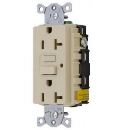 hubbell wiring gf20alla commercial grade gfci duplex receptacle with led indicator 20 amp 125 [ 900 x 900 Pixel ]