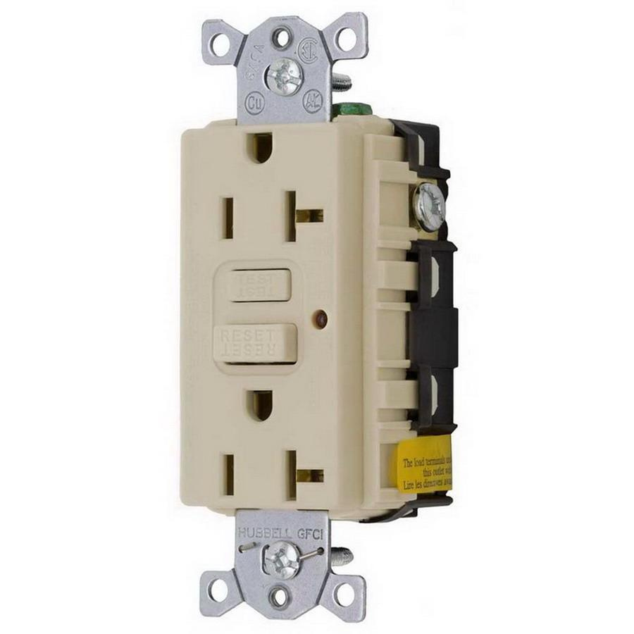 medium resolution of hubbell wiring gf20alla commercial grade gfci duplex receptacle with led indicator 20 amp 125