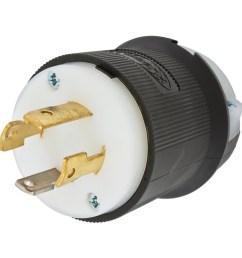 hubbell wiring l630p 3 wire 2 pole polarized locking plug 250 volt [ 1000 x 1000 Pixel ]