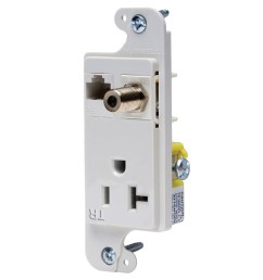 hubbell wiring rj620wtr tamper resistant multimedia outlet white tradeselect reg  [ 1200 x 1200 Pixel ]