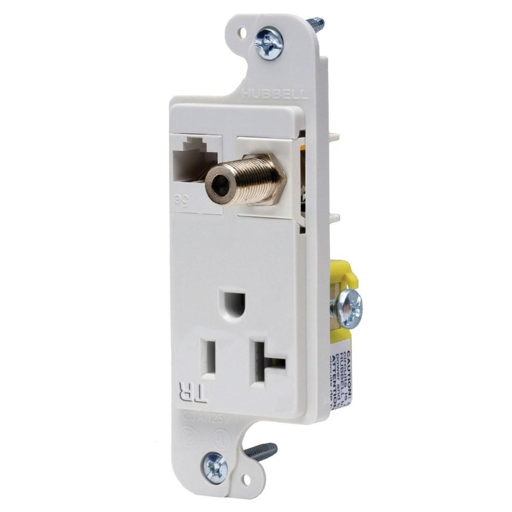 medium resolution of hubbell wiring rj620wtr tamper resistant multimedia outlet white tradeselect reg