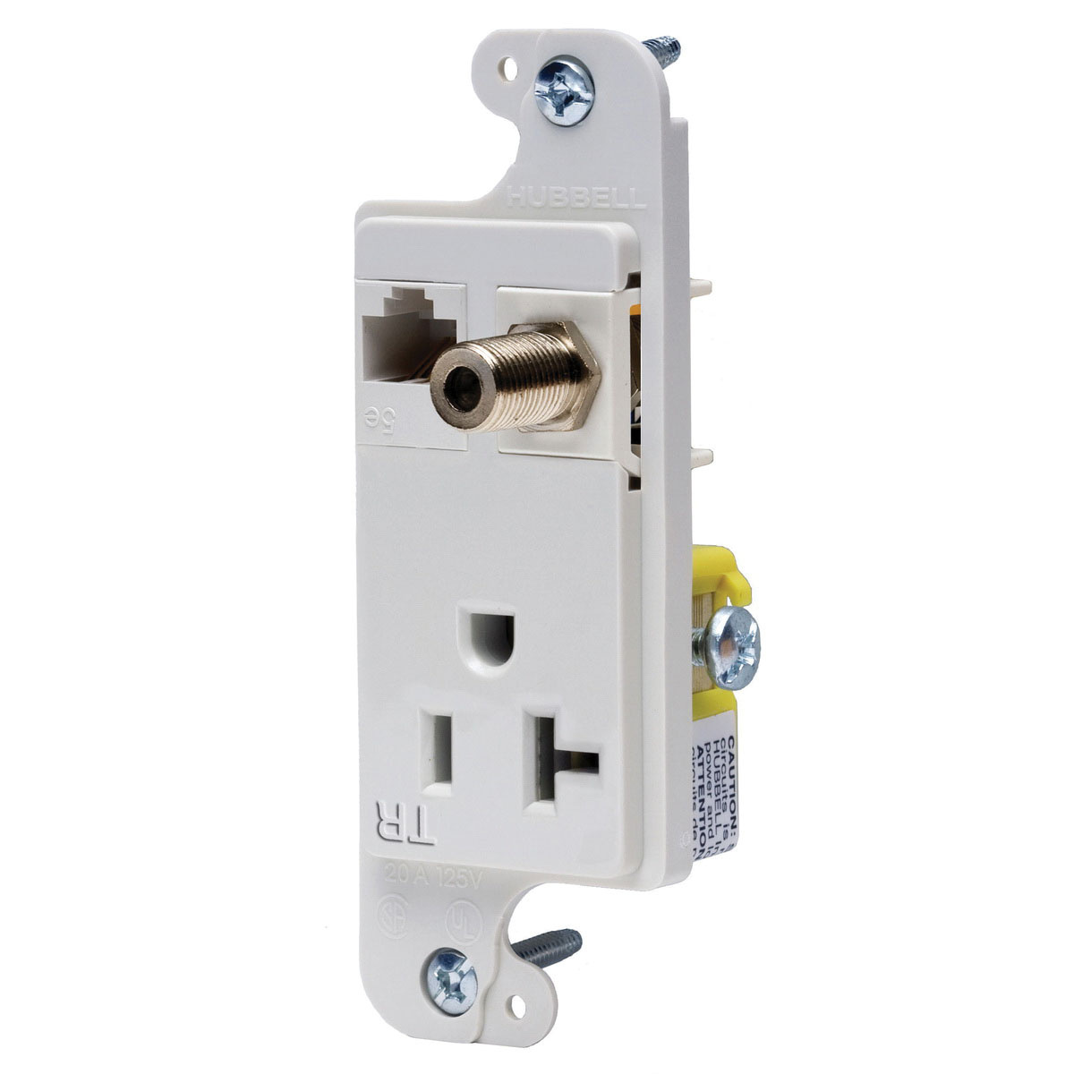 hight resolution of hubbell wiring rj620wtr tamper resistant multimedia outlet white tradeselect reg