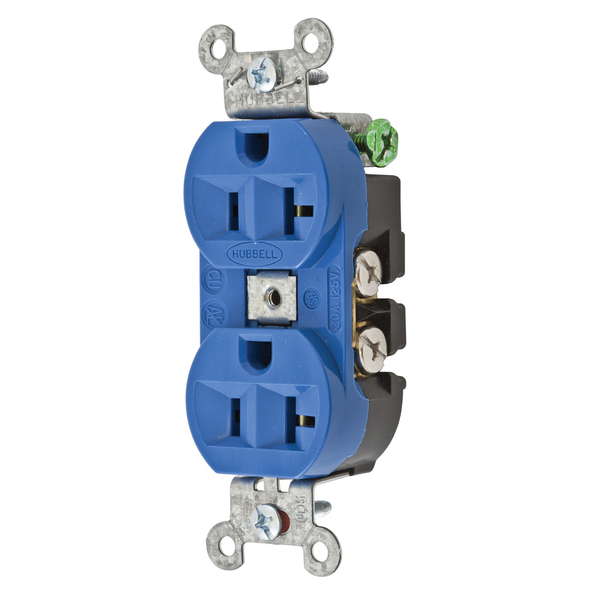 hight resolution of hubbell wiring 5362bl commercial industrial grade heavy duty straight blade receptacle 2 pole 3 wire 125 volt 20 amp nema 5 20r blue hubbell pro straight
