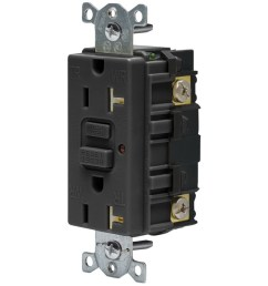 hubbell wiring gftr20bk heavy duty tamper and weather resistant led gfci receptacle 125 [ 1000 x 1000 Pixel ]