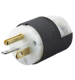 hubbell wiring hbl5466c 3 wire 2 pole polarized straight blade plug 250  [ 1000 x 1000 Pixel ]