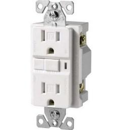 cooper wiring device trvgf15w specification grade tamper resistant gfci duplex receptacle 15 amp 125 volt ac nema 5 15r white arrow hart gfci afci  [ 900 x 900 Pixel ]