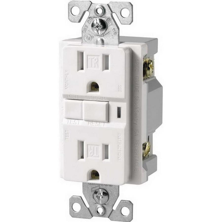 medium resolution of cooper wiring device trvgf15w specification grade tamper resistant gfci duplex receptacle 15 amp 125 volt ac nema 5 15r white arrow hart gfci afci