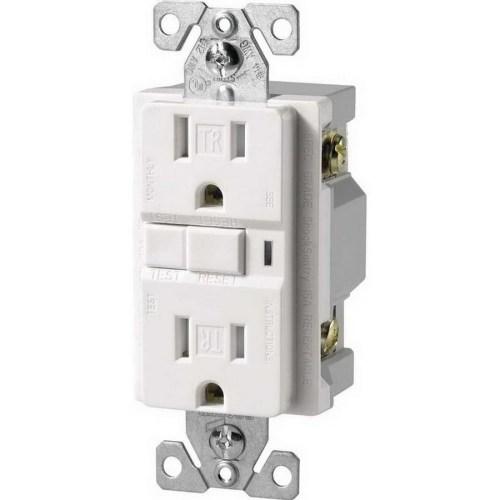 small resolution of cooper wiring device trvgf15w specification grade tamper resistant gfci duplex receptacle 15 amp 125 volt ac nema 5 15r white arrow hart gfci afci