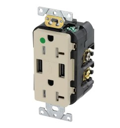 leviton t5832 hgi hospital grade heavy duty tamper resistant smooth face receptacle outlet [ 1000 x 1000 Pixel ]