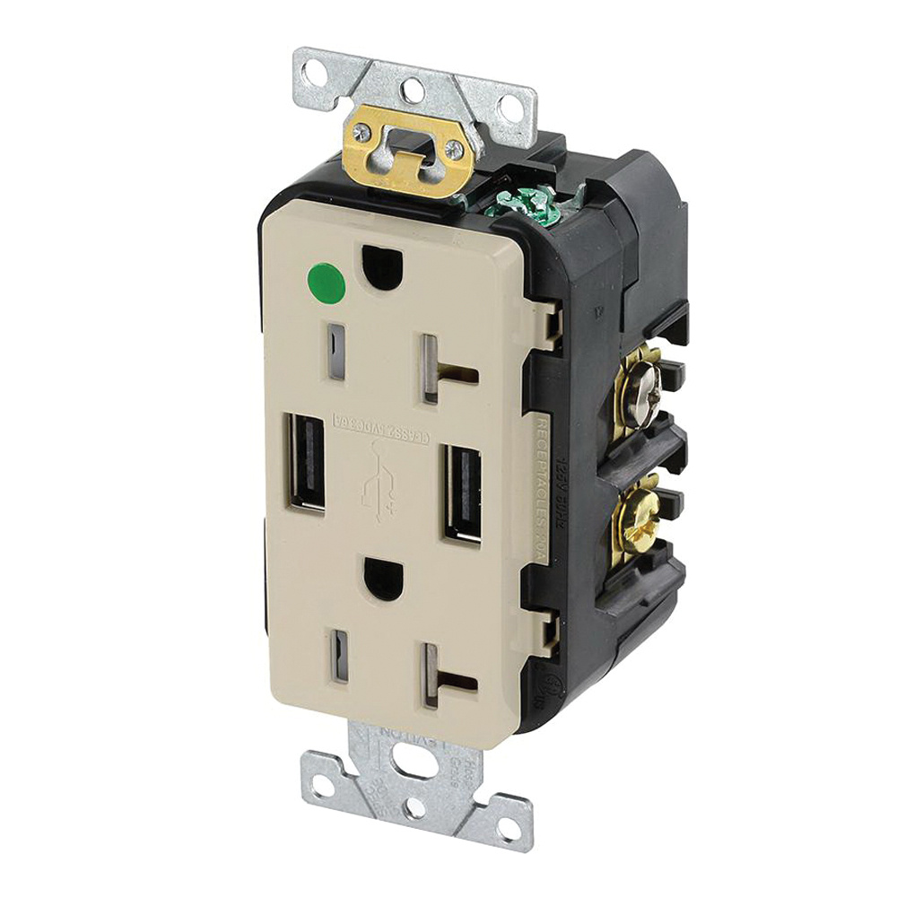hight resolution of leviton t5832 hgi hospital grade heavy duty tamper resistant smooth face receptacle outlet