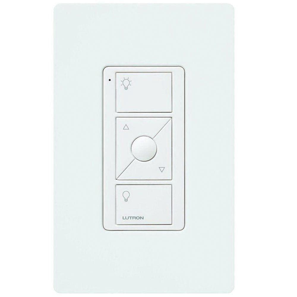 Lutron PJ2-WALL-WH-L01 3 Volt Remote Lighting Control With