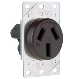 pass seymour 3894 straight blade power outlet receptacle 50 amp 250 volt 50 amp ac wiring [ 1000 x 1000 Pixel ]