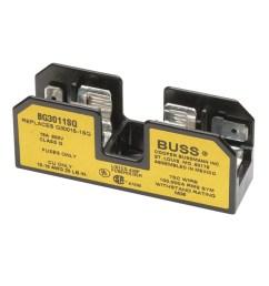 bussmann bg3011sq class g fuse block 1 pole 600 volt ac 1 15 [ 1000 x 1000 Pixel ]