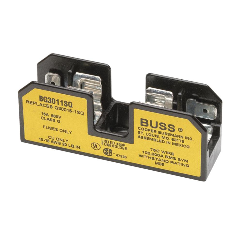 medium resolution of bussmann bg3011sq class g fuse block 1 pole 600 volt ac 1 15