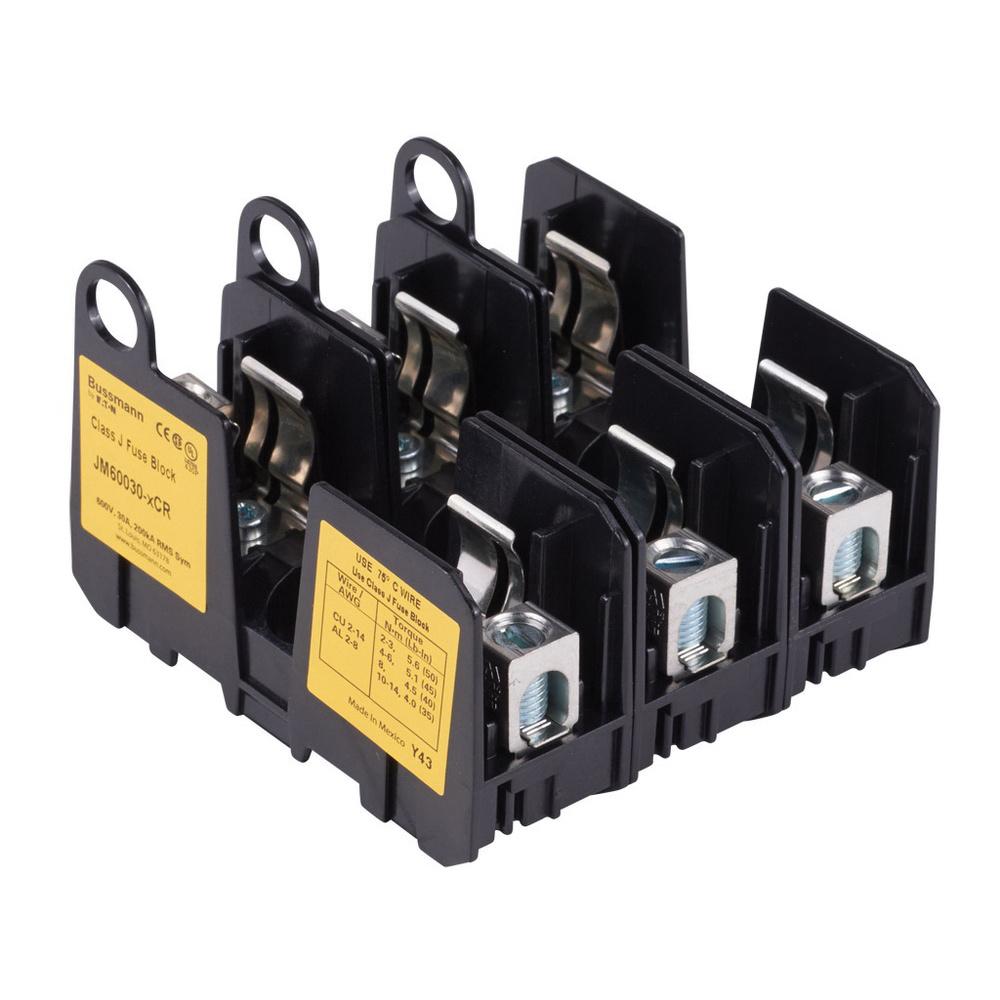 medium resolution of bussmann jm60030 3cr class j fuse block 3 pole 600 volt 30 ampbussmann jm60030 3cr class