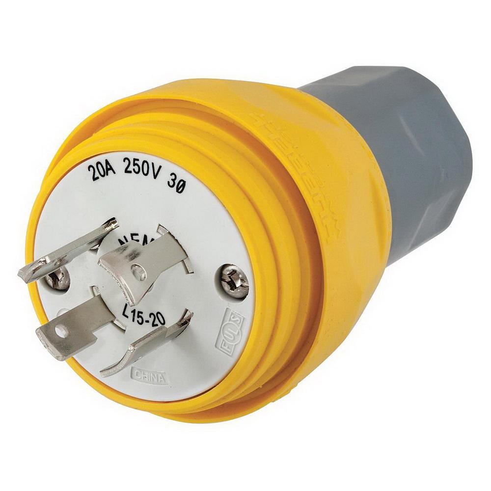 medium resolution of hubbell wiring hbl28w76 4 wire 3 pole watertight locking plug 480 volt